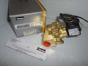 new In Box Parker 73212bn52n00n0c111p3 3 4 Brass Solenoid Valve 110 120vac