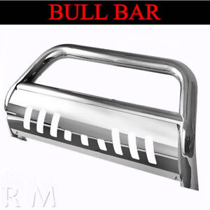 For 1994 2001 Dodge Ram 1500 Chrome Bull Bar With Skid Plate Front Grille Guard