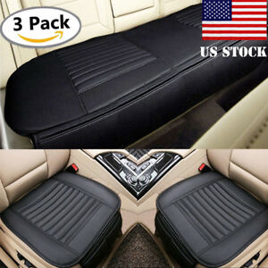 Universal Car Seat Cushion Cover Breathable Pu Leather Pad Mat Bamboo Charcoal