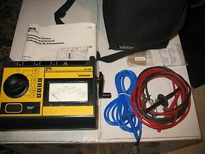 Megger Mj15 Ideal 61 792 Dual Hand Crank battery Operated 5kv Insulation Tester