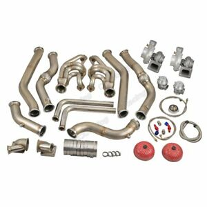 Twin Turbo Header Kit Gt35 For 68 72 Chevrolet Chevelle Sbc Small Block Engine