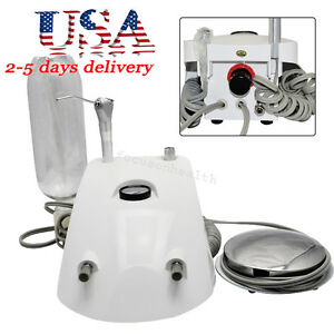 Fda Ce Portable Dental Turbine Unit 2 Hole Work W Compressor 3 Way Syringe Usa