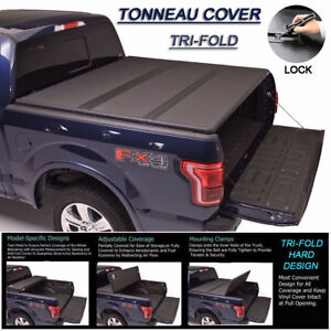 Fits 1999 2006 Chevy Silverado Tri fold Solid Hard Tonneau Cover 6 5ft 78 Bed