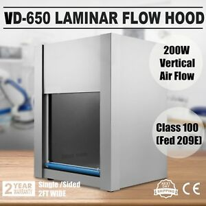 Laminar Flow Hood Air Flow Vd650 Clean Bench Work Table 200w Electron 110v Ac