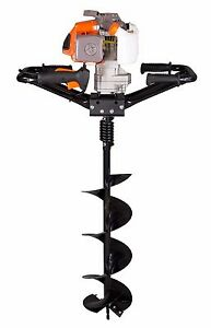 New Kasei Earth Auger 3hp 63cc 2 Man Gas Hole Digger W 8 Bits Plus Extension