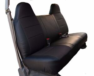 Ford F 150 Black Iggee S leather Custom Fit Bench Front Seat Cover