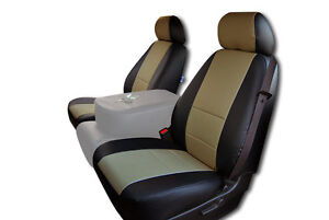 Chevy Silverado 2007 2013 Black Beige Iggee S Leather Custom Front Seat Cover