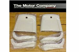 1969 1970 1971 1972 Nova Chevelle Cutlass 442 El Camino Seat Backs White J 4219