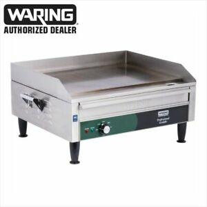 Waring Wgr240 Commercial 24 Electric Double Countertop Griddle 240v Blow Out