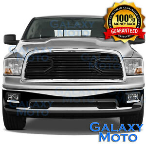 09 12 Dodge Ram 1500 Front Hood Big Horn Black Replacement Grille Chrome Shell