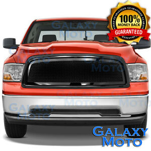 Gloss Black Mesh Grille replacement Shell For 09 12 Dodge Ram Truck 1500