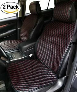 Big Ant Universal Black Red Car Seat Cover Pu Leather Pad Mat For Chair Cushion