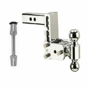 B w Hitches Adjustable Chrome Dual Ball Mount Trimax 5 8 Receiver Hitch Lock