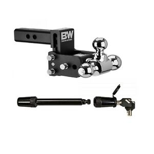 B w Hitches Tri ball Adjustable Ball Mount 5 8 Receiver Hitch Lock