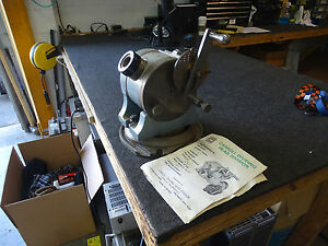 Carroll Bb 10 Dividing Indexing Head W Swivel Base In Crate W Catalog