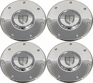 New 2003 2004 Cadillac Cts Chrome 16 Wheel Center Hub Cap Set Of 4 Aftermarket