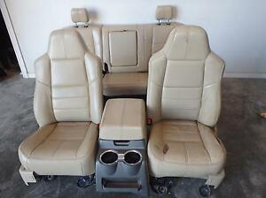 99 10 Ford F250 Super Duty Front Seats W Console Rear Tan Leather Power