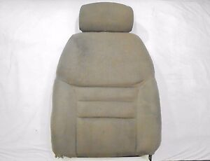 1994 1998 Mustang Front Bucket Seat Back With Headrest Tan Cloth Passenger