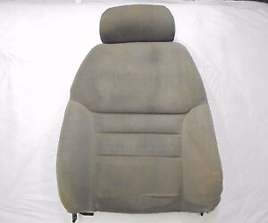1994 1998 Mustang Front Bucket Seat Back With Headrest Tan Cloth Driver