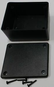 2 Pcs Usa Black Plastic Electronic Project Box Enclosure Case 3 X 2 5 X 1 6 In