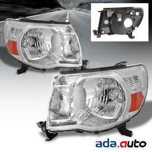 For 2005 2011 Toyota Tacoma Factory Style Chrome Headlights 2007 2008 2009 2010