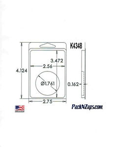 K4348 975 4 h X 3 w X 0 162 d Clamshell Packaging Clear Plastic Blister Pack