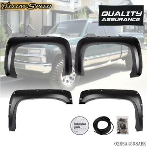 Fender Flares Pocket Rivet Style For 07 13 Chevy Silverado 1500 2500hd 3500hd