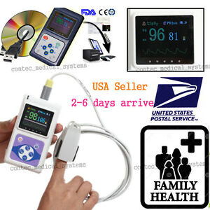 Fingertip Pulse Oximeter Spo2 Sensor Pulse Heart Rate Monitor alarm pc Software