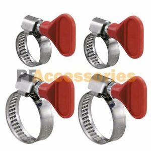 4 Pcs Key Type Twist Adjustable Stainless Steel Hose Clamp Set Kit 1 1 1 2