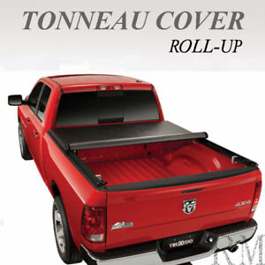 Roll Up Soft Tonneau Cover Fits 2002 2018 Dodge Ram 1500 2500 3500 8ft Long Bed