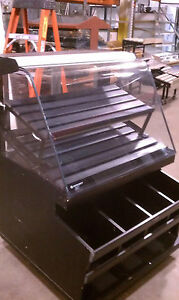 Bread Bagel Muffin Bakery Dry Curved Glass Merchandiser Display Wg3855