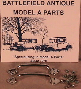 1928 1931 Model A Ford Hood Handle Hood Latch Clip Set In Stainless Steel