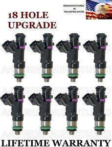 18 Hole Upgraded Genuine Bosch Set Of 8 Fuel Injectors For Nissan Armada Titan