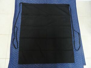 Eleven Black Bistro Aprons 34 X 11 With One Pocket