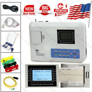 Ecg100g Digital Single Channel Ecg ekg Machine 12 lead Electrocardioraph Contec