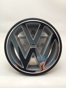 Oem Volkswagen Front Emblem Badge Vw Chrome Polo Golf Jetta Passat Corrado