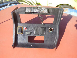 Mg Mgb Center Console With Switches Plates Warning Light And More