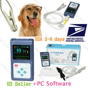 Dog cat Pulse Oximeter Tongue ear Blood Oxygen Meter Veterinary Spo2 Pr Monitor
