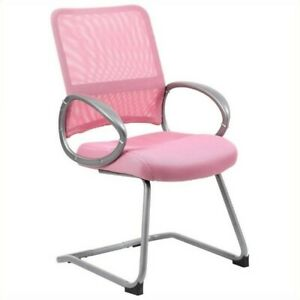 Boss Office Mesh Back Guest Chair In Pink