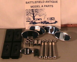 1930 1931 Model A Ford Stainless Steel Chrome Bumper Hardware Set