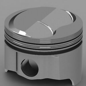 Icon Forged Piston Set Chrysler 318 Rod 6 123 Solid Dome 4 9cc 2v