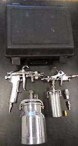 Automotive Spray Gun Set Siphon Feed And Gravity Feed