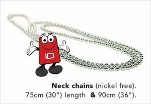Nickel Free Steel Neck Chain Necklace For Id Card Badge Holders 90cm 36in