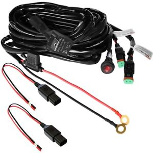 Primelux 12ft 16gauge 2 Way Relay Wiring Harness For Led Light Bars 12v40a Relay