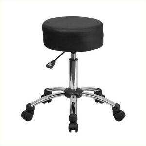 Flash Furniture Medical Ergonomic Stool Black And Chrome