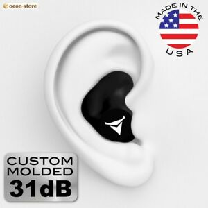 Custom Earplugs 31db Hearing Protection Shooting Travel Swimming Work Gun New