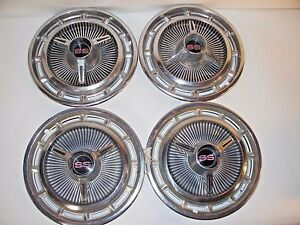 Vintage Mid 1960 S 14 Chevy Ss Wheelcovers Hub Caps Set Of 4 Good Condition