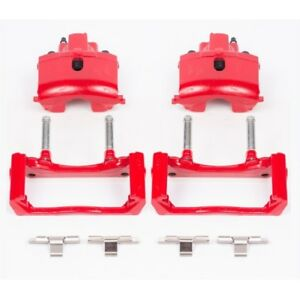 Powerstop S4836 Performance Brake Calipers Powder Coated Red Rear