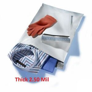 1000 9x12 White Poly Mailers Shipping Envelopes 3 Bags 2 5mil 9 X 12