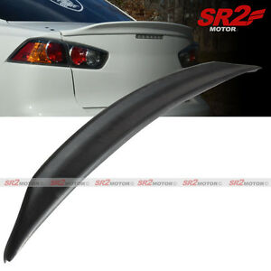 Black Abs Duck Tail Trunk Spoiler Lip Wing Fits 08 15 Mitsubishi Lancer Evo